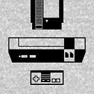 Minimalist NES Trio by thedailyrobot