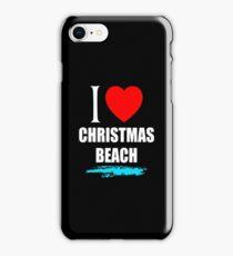 I LOVE CHRISTMAS BEACH iPhone Case/Skin