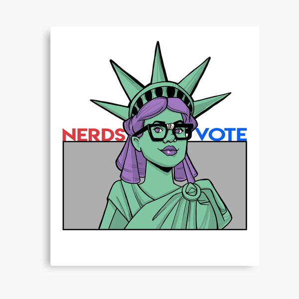 Lady Liberty - NerdsVote x Karen Hallion Canvas Print
