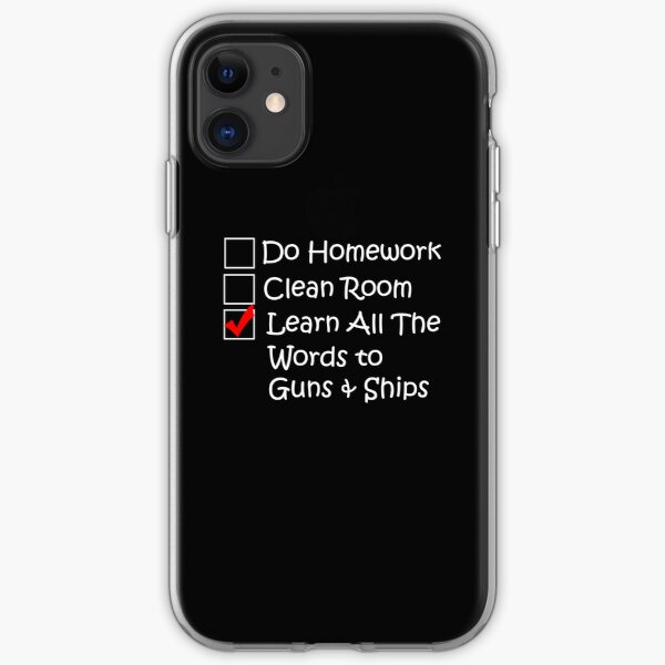 Learn All the Words to Guns and Ships iPhone Soft Case