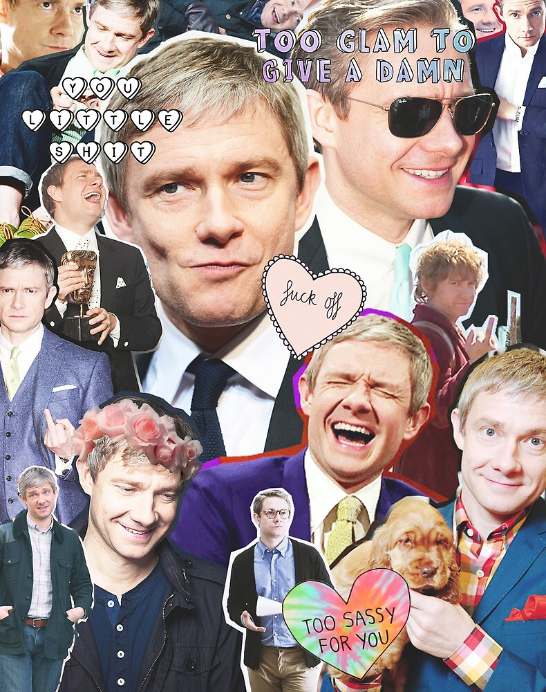 martin freeman collage by Catherine Ostholthoff