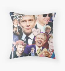 martin freeman collage Throw Pillow