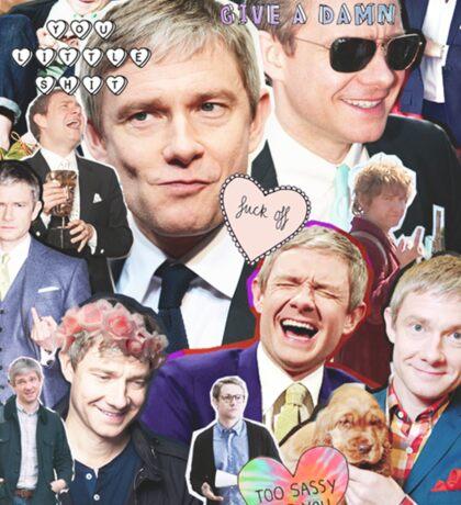 martin freeman collage Sticker