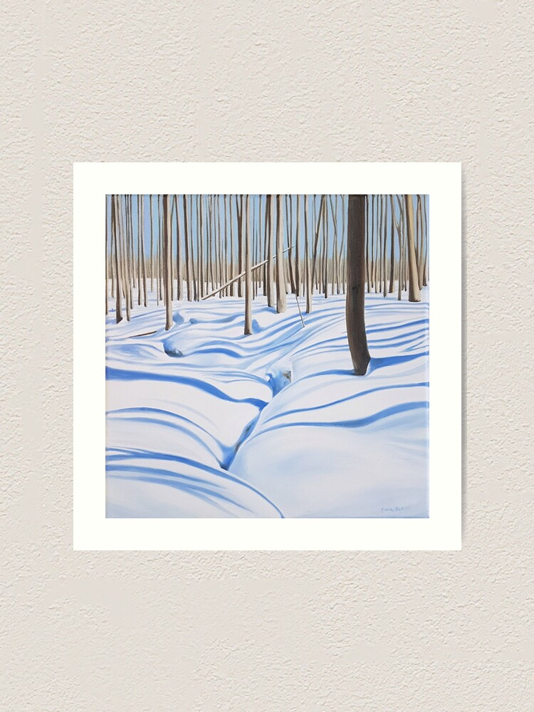 Alternate view of Outliers - winter forest painting Art Print