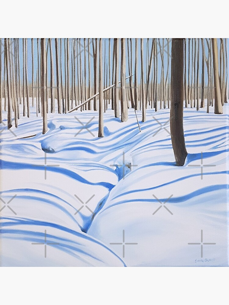 Outliers - winter forest painting by EmilyBickell