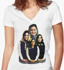 Dolls - Russian Dolls Women's Fitted V-Neck T-Shirt