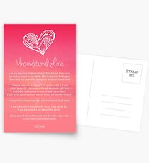 Affirmation ~ Unconditional Love Postcards