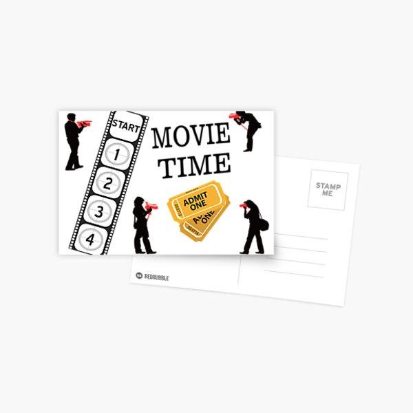 Come One Come All It's Movie Time Postcard