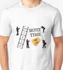 Come One Come All It's Movie Time Slim Fit T-Shirt