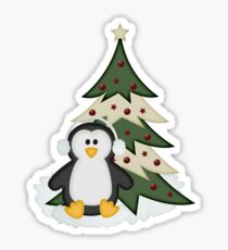Christmas Penguin  Sticker