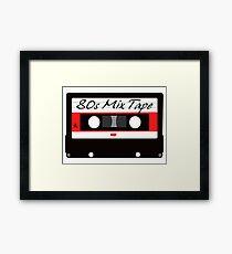 80s Music Mix Tape Cassette Framed Print