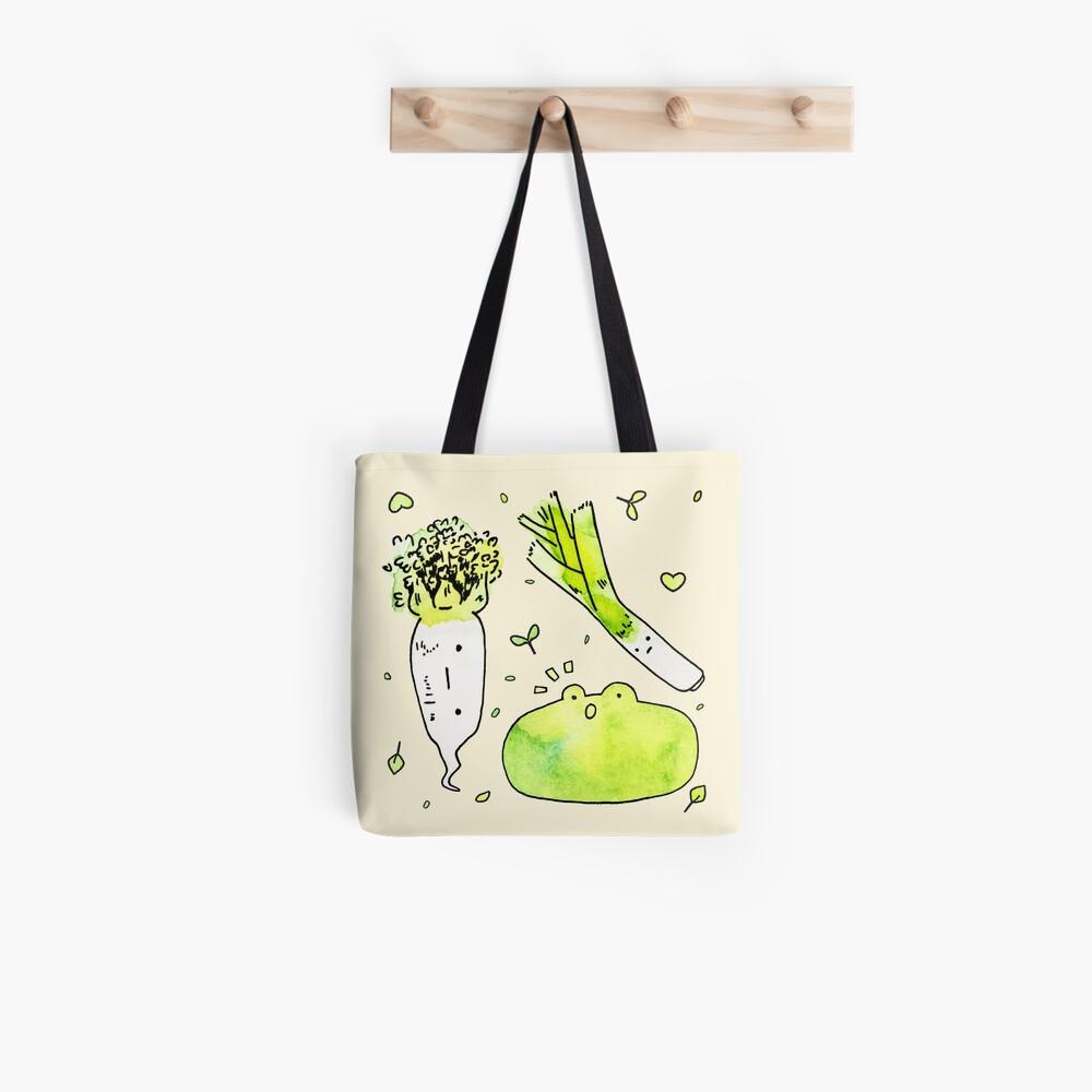 Frog and Veggies  Tote Bag