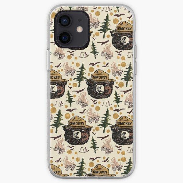 Retro Smokey bear pattern iPhone Soft Case