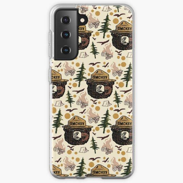 Retro Smokey bear pattern Samsung Galaxy Soft Case