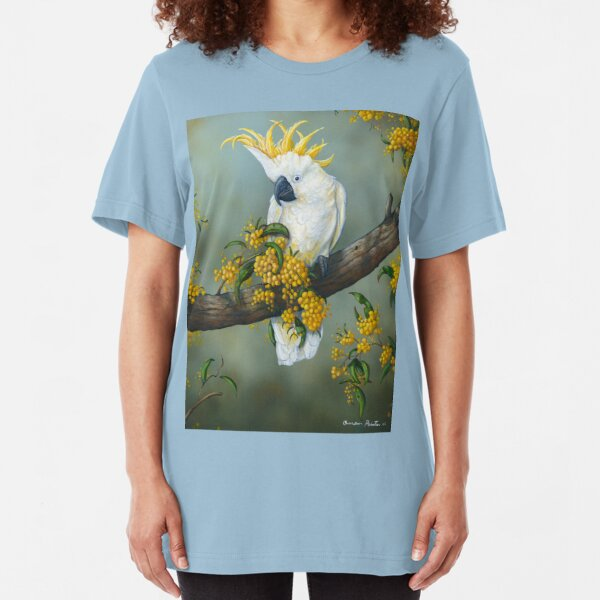 """ Austraian Cockatoo "" Slim Fit T-Shirt"