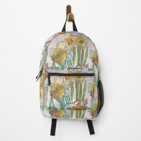 Daffodil Watercolor Abstract Painting Backpack