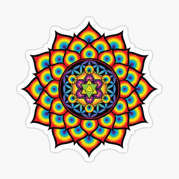 Flower of Life Metatron's Cube Sticker