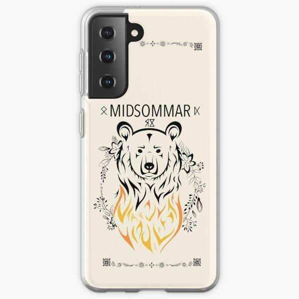 Cas de l'ours en feu (Milieu) Coque souple Samsung Galaxy