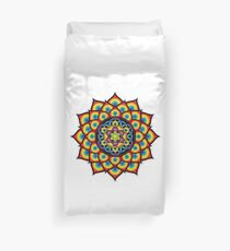 Flower of Life Metatron's Cube Duvet Cover