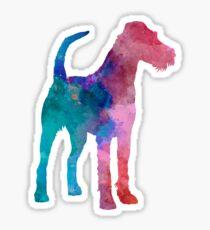 Irish Terrier in watercolor Sticker