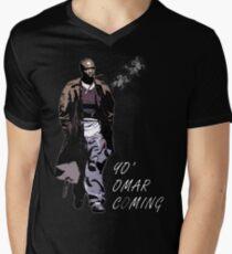 Omar wenig T-Shirt mit V-Ausschnitt