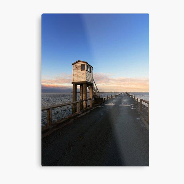 Lindisfarne Causeway Metal Print