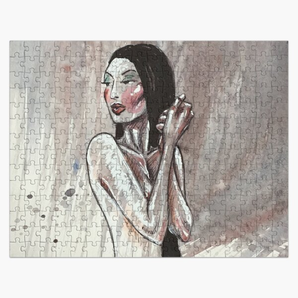 NUDE GIRL HOLDING HANDS Jigsaw Puzzle
