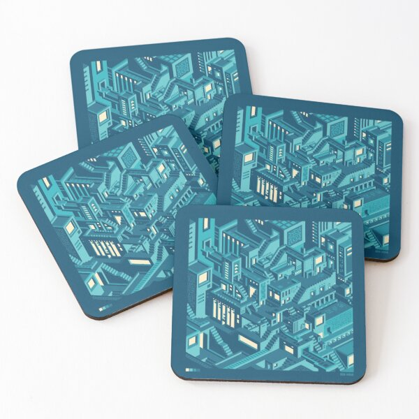 ISO CITY POSTER Coasters (Set of 4)