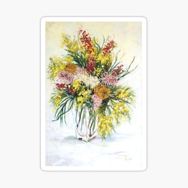 Australian Native Flowers in a Vase Sticker