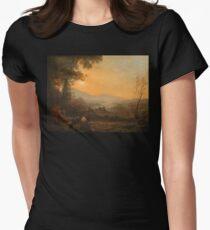 Sunset Landscape Women's Fitted T-Shirt