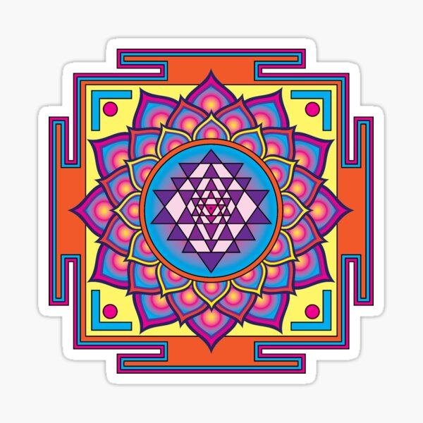 Sri Yantra Mandala Sticker
