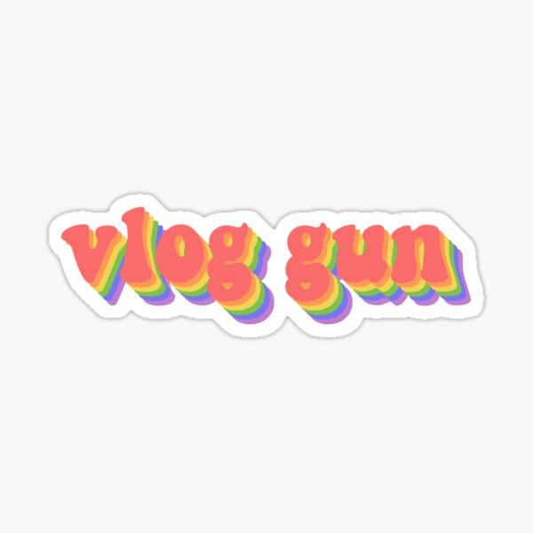 Vlog Gun Text Sticker