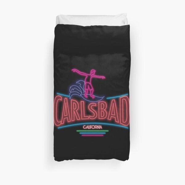 Carlsbad and kook In Neon Duvet Cover