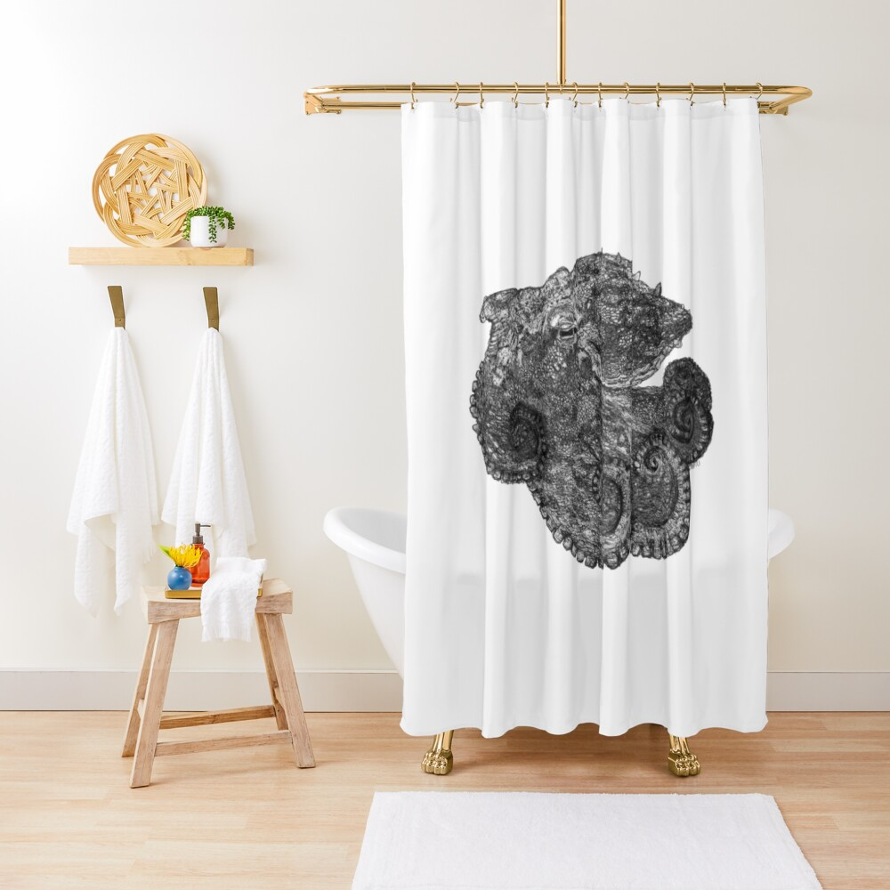 Augustus the Octopus Shower Curtain