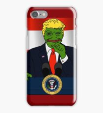 President Donald 'Pepe' Trump the Smug Frog iPhone Case/Skin
