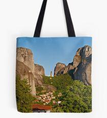 Kastraki village, Meteora Tote Bag