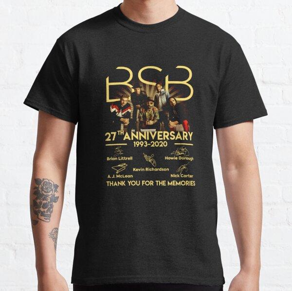 BSB-Backstreet Boys-27 ° aniversario 1993-2020 Firma Camiseta clásica