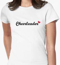 Cheerleader heart Womens Fitted T-Shirt