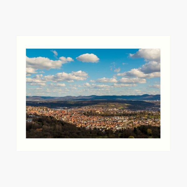 Tübingen Panorama 2 Art Print