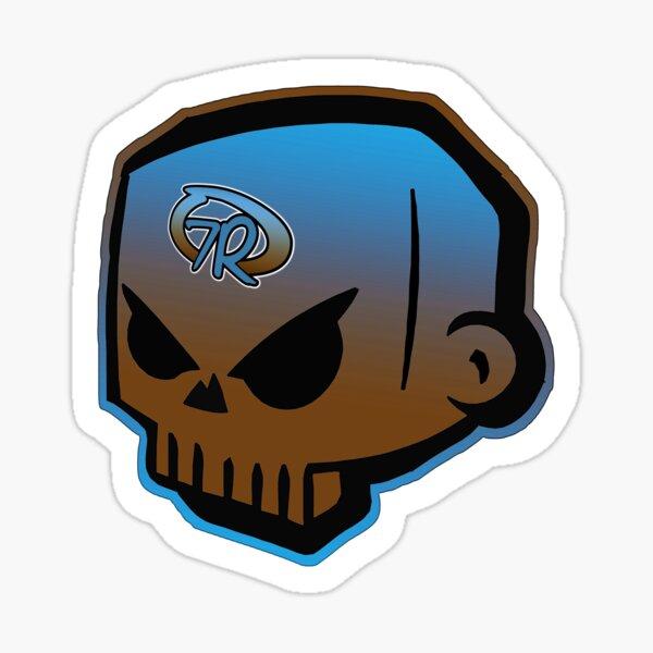 7Rock Skull B+B clear Sticker