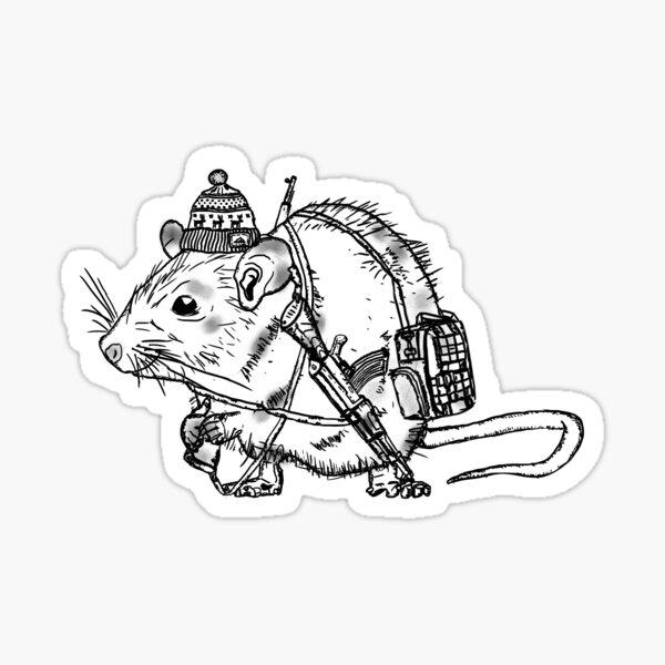 Happy rat Sticker