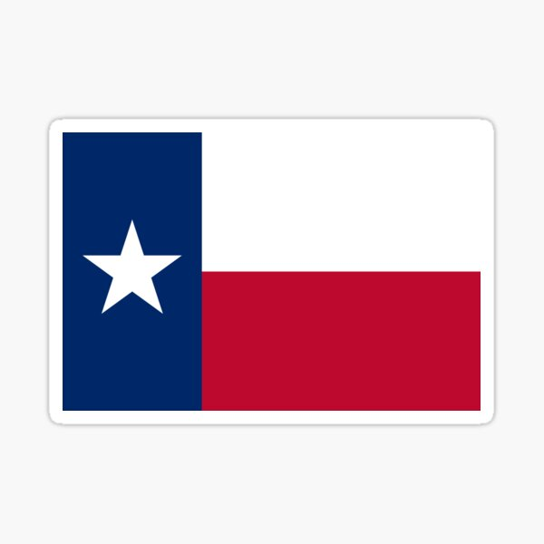 Flag of Texas / TX / Texan Official State Flag (USA) Sticker