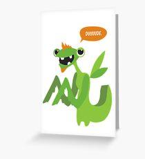 Kiki the praying mantis Greeting Card