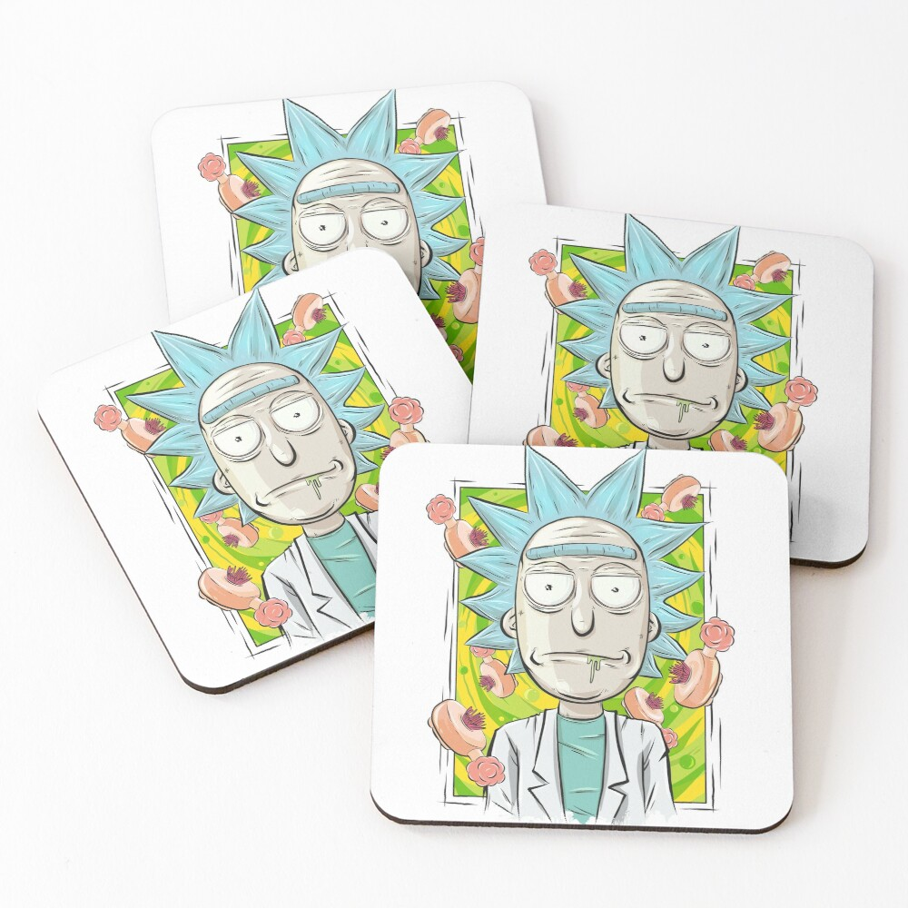 Rick and Morty - Plumbus Portal Rick Coasters (Set of 4)