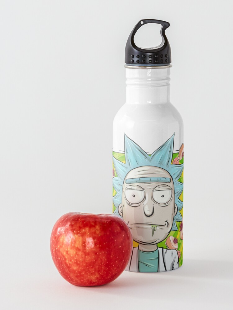 Alternate view of Rick and Morty - Plumbus Portal Rick Water Bottle