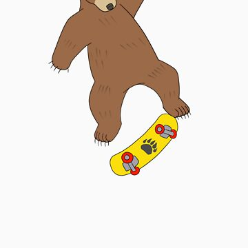 Skateboarding Bear by gerbor