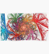 Rainbow Spirals on White Poster