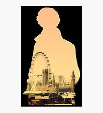 Sherlock - London Silouette Photographic Print