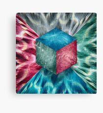 Aluminum Cube RGB Psychodelic Canvas Print