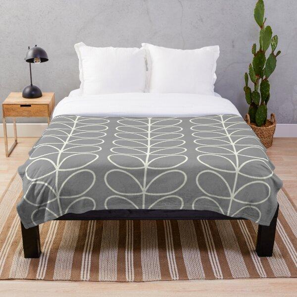 orla kiely linear design  Throw Blanket